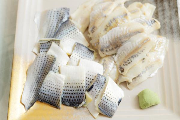 コハダと鯵の酢シメ