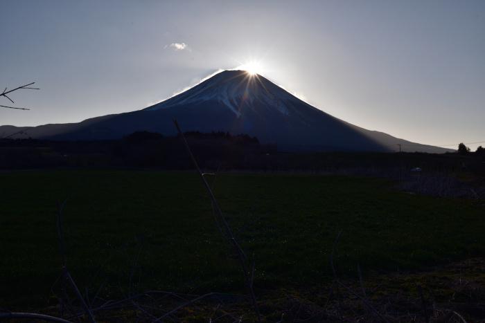 朝霧高原でダイヤモンド富士