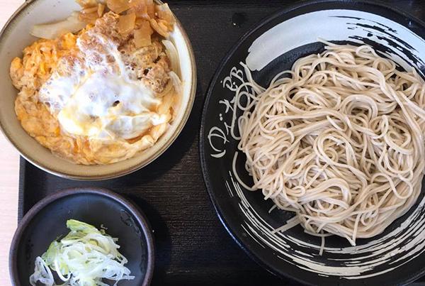 茹で太郎の蕎麦カツ丼セット