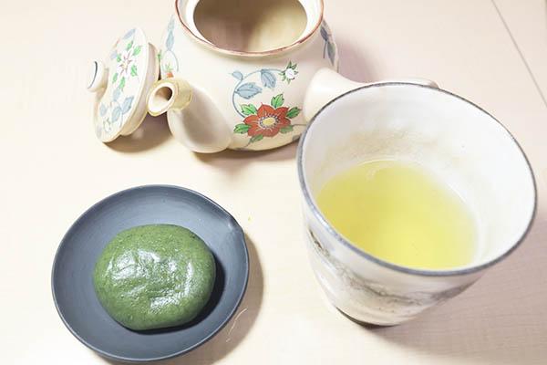 静岡茶と草餅