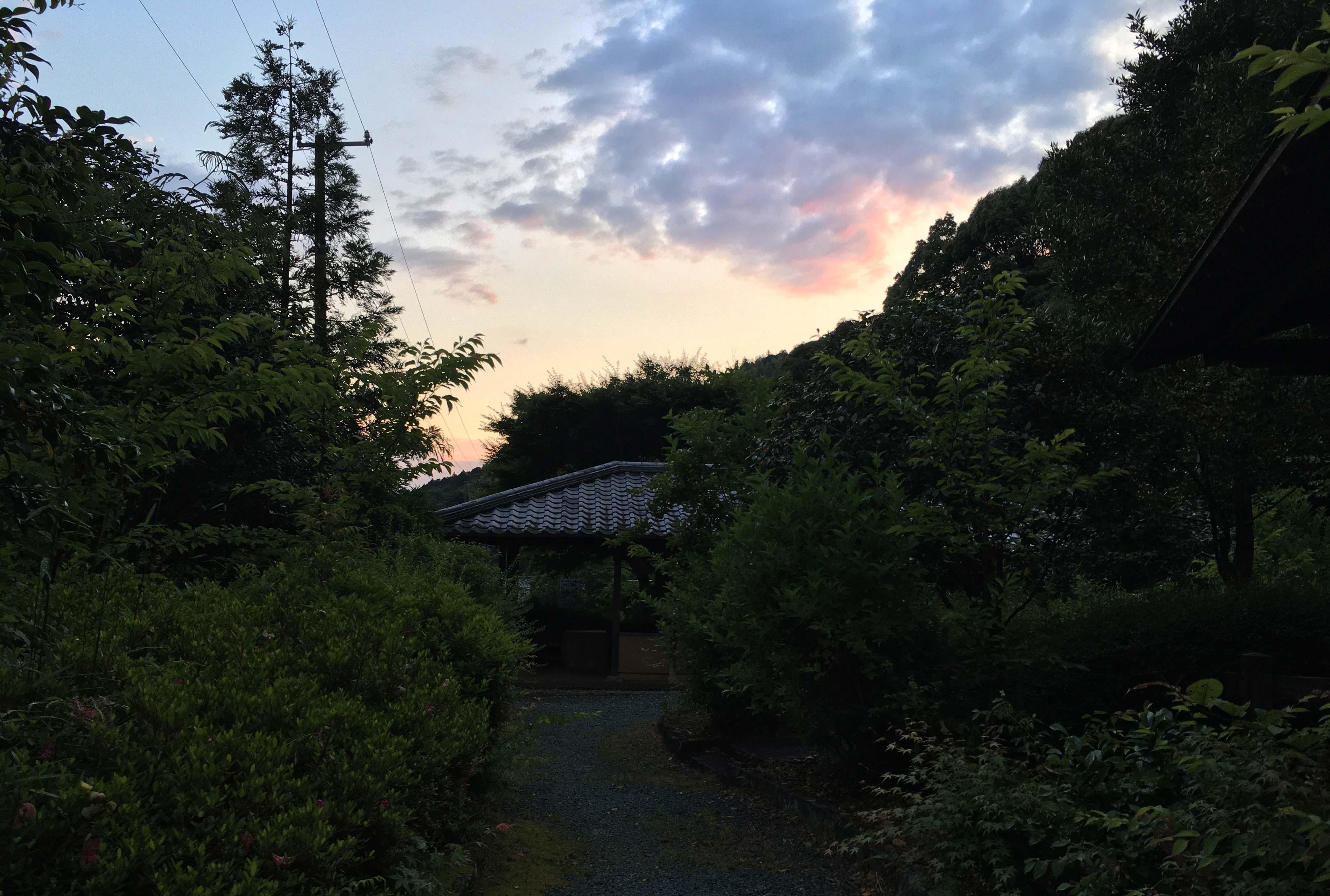 蔦の細道公園の夕焼け