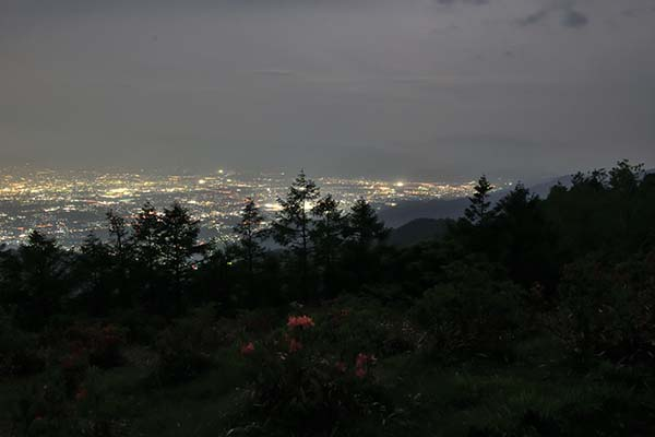 甲府盆地夜景