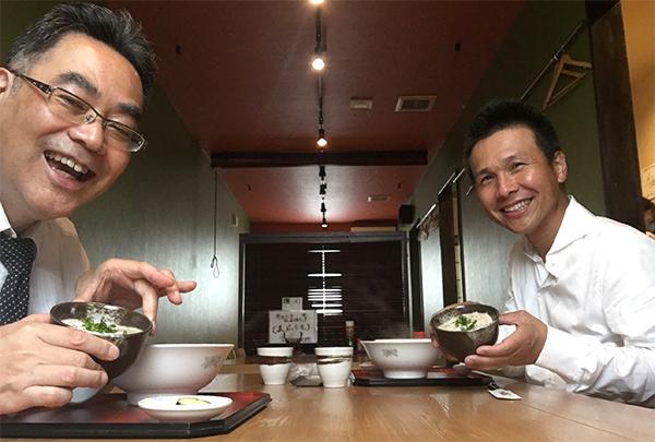 産業カウンセラーの石澤さんとご一緒です