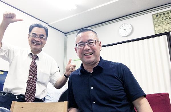 防災トイレ館店長の石川さんです。お会いするの久しぶりだなあ