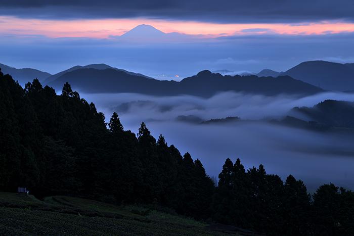 梅雨明けの大雲海と富士山