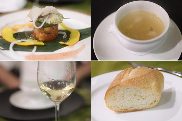 FB友達、岡西シェフのお料理に舌鼓です。ワインは三次産ワイン