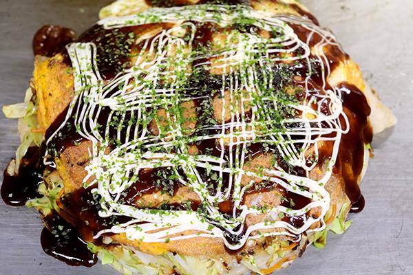 広島風お好み焼き(唐麺)