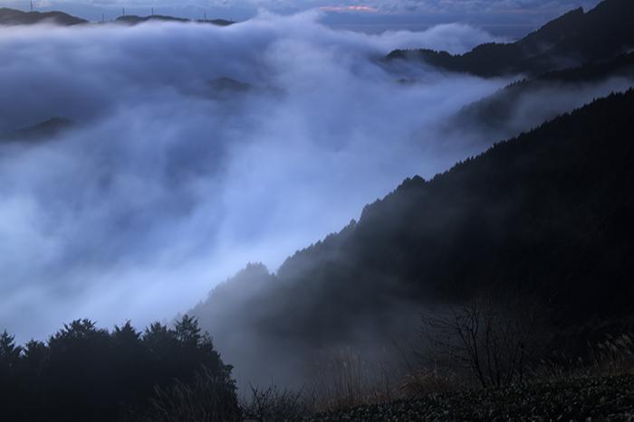 雲海が支配する谷