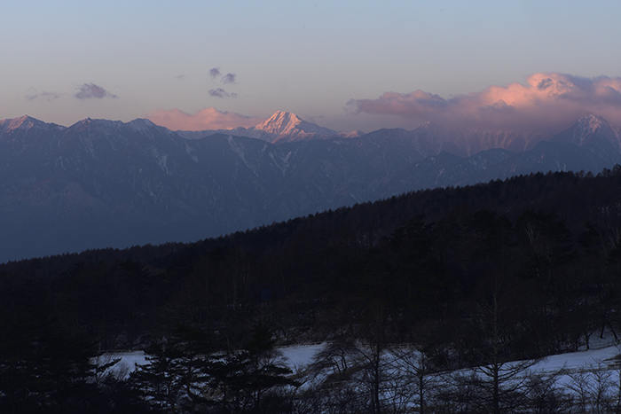 北岳モルゲンロート