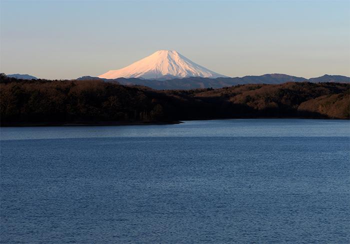 狭山湖からの富士山