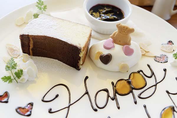 handcafeのチーズケーキ誕生日仕様