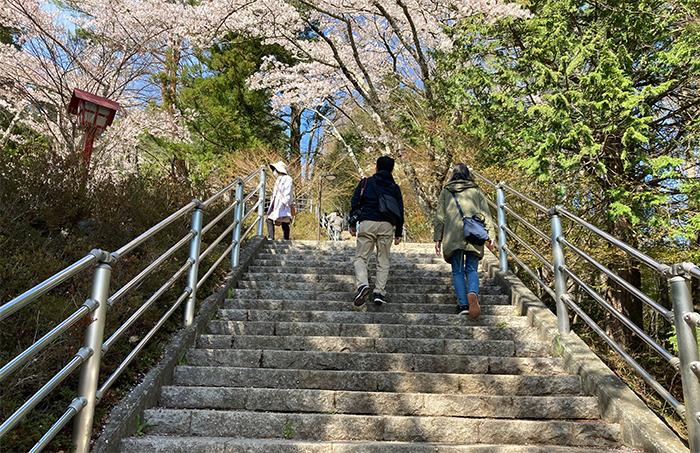 400段階段はしんどい
