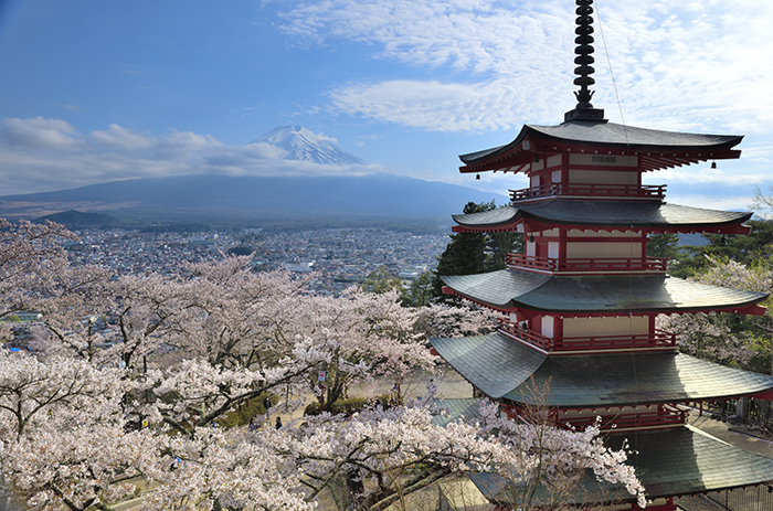新倉山展望台からの富士山