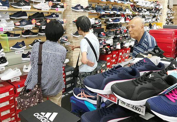 様々な靴を選べます