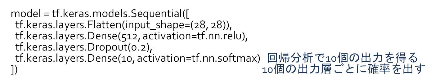 pythonでかいたdeeplearning構造のプログラム