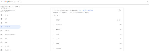 google mapインサイト分析