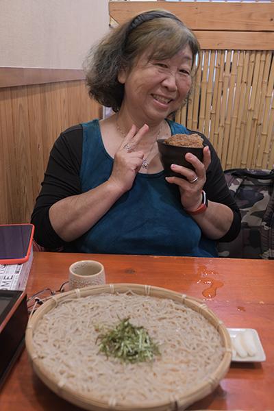 ソースカツ丼と蕎麦のランチセット