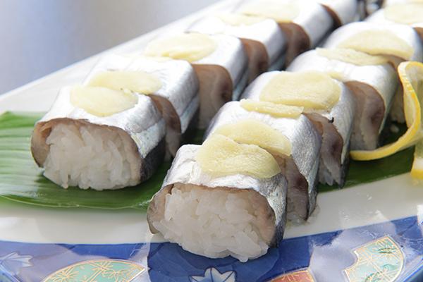 下田、白浜名物さんま寿司
