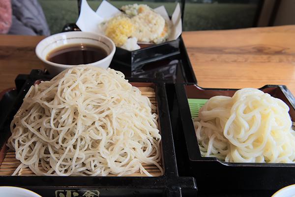 足利あわせ麵おりひめに天ぷらを付けました