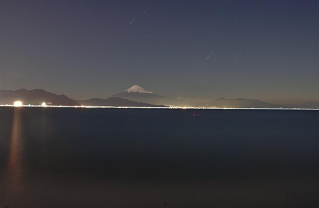 海抜0Mからの富士山夜景