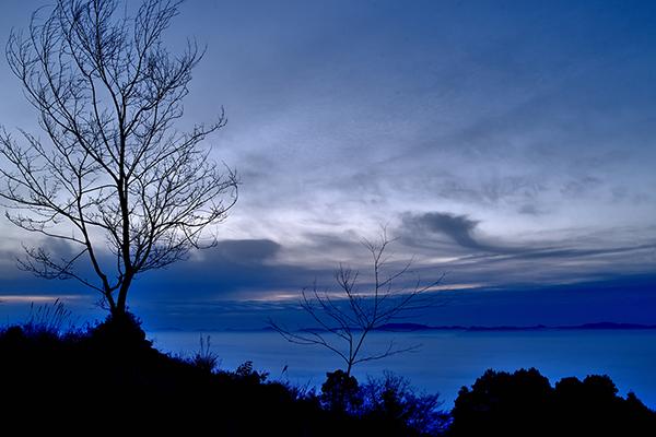 高谷山から霧の海