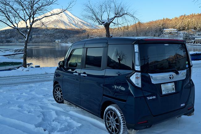 愛車よ、これが山中湖だ